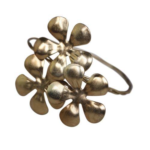 Chic Antique / Kovový krúžok na obrúsky Brass Flowers