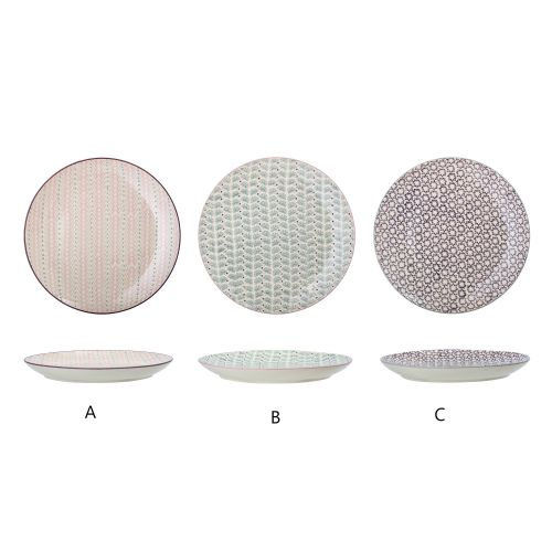 Bloomingville / Keramický tanier Maya Plate Ø28 cm - 3 druhy
