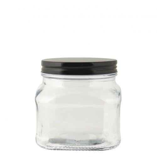 IB LAURSEN / Sklenená dóza s čiernym vrchnákom 450 ml