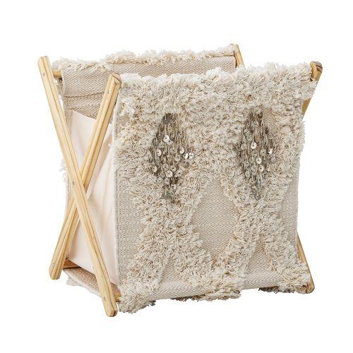Bloomingville / Kôš na bielizeň Nature Cotton