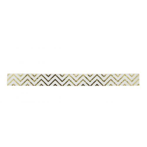 MADAM STOLTZ / Dizajnová samolepiaca páska ZigZag Gold