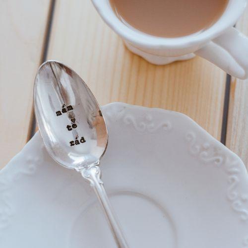 La de da! Living / Postriebrená čajová lyžička Mám tě rád