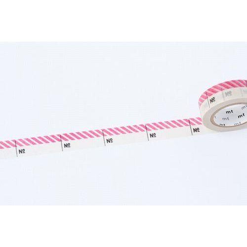 mt / Designová samolepiaca páska Number pink