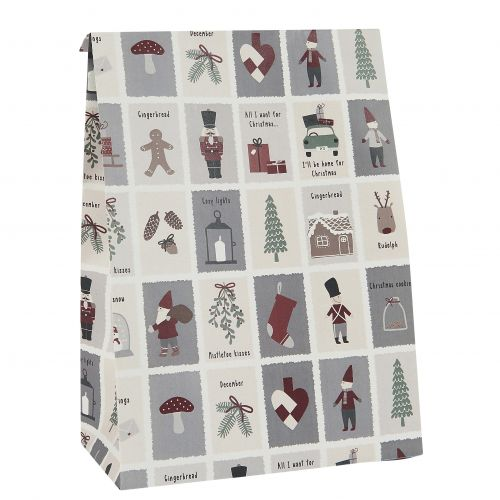 IB LAURSEN / Papierový sáčok Nostalgic Christmas L