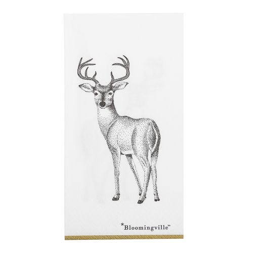 Bloomingville / Papierové servítky s jeleňom 20 x 10 cm