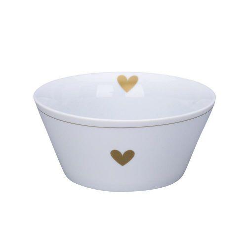 Krasilnikoff / Porcelánová miska Gold Heart