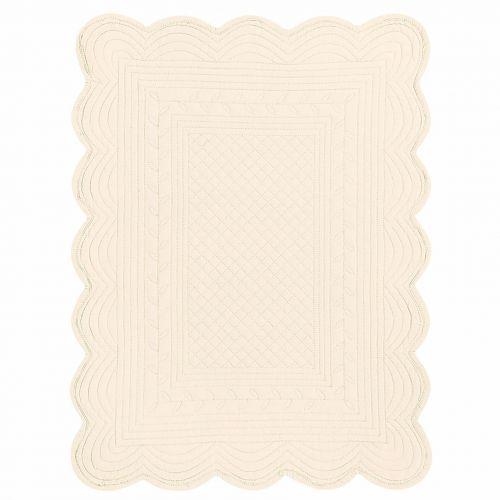 CÔTÉ TABLE / Látkové prestieranie  slonová kosť 37x50