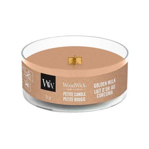 WoodWick / Vonná sviečka WoodWick Petite - Golden Milk 31 g
