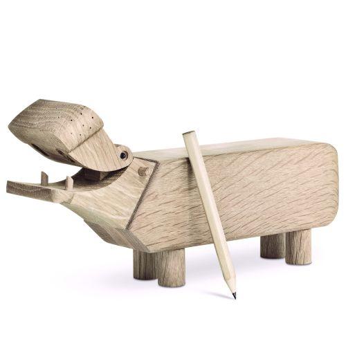Kay Bojesen Denmark / Drevený hrošík Hippo Oak Wood
