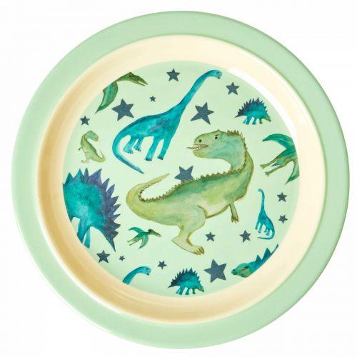 rice / Melamínový tanier Dinosaurs Print