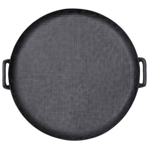 Bloomingville / Hliníková tácka Black Aluminium Ø 54 cm