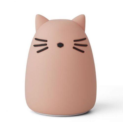 LIEWOOD / Detská nočná lampička Winston Cat Rose