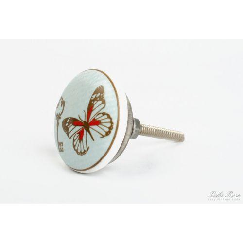 La finesse / Keramická úchytka Butterfly - key