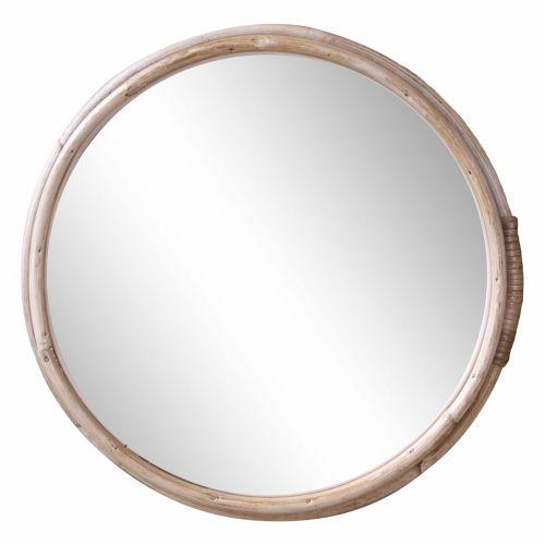 Chic Antique / Zrkadlo v bambusovom ráme Nature 33cm