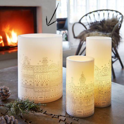 Jeanne d'Arc Living / Maxi vosková svíčka s LED žárovkami