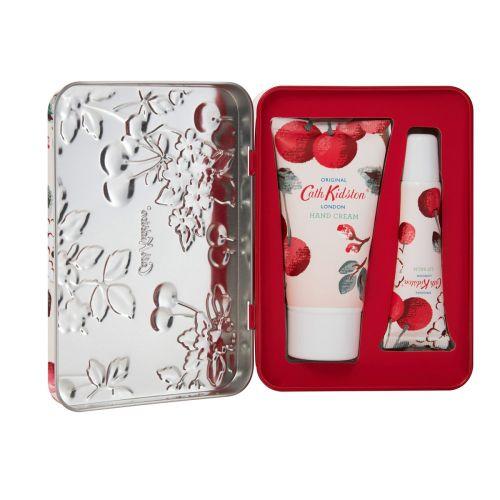 Cath Kidston / Darčekový set kozmetiky v plechovej krabičke Cherry Spring