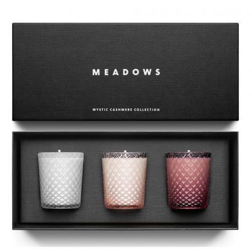 MEADOWS / Darčeková kolekcia sviečok Meadows - Mystic Cashmere