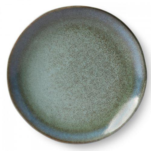 HK living / Keramický tanier 70's Moss