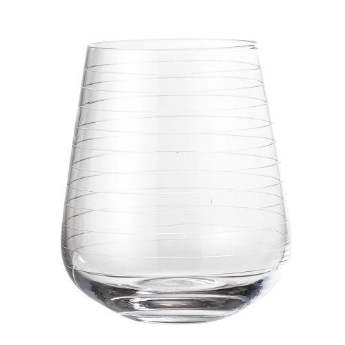 Bloomingville / Sklenený pohár Line Clear 450 ml