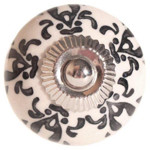 La finesse / Porcelánová úchytka Black Ornament