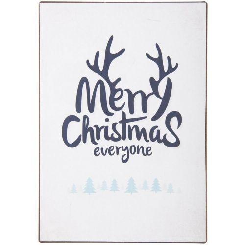 IB LAURSEN / Plechová ceduľa Merry Christmas Everyone