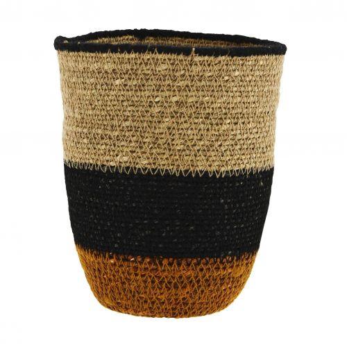 MADAM STOLTZ / Úložný košík Seagrass Stripes