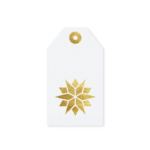 TAFELGUT / Vianočný štítok Star White 6x10,5 cm