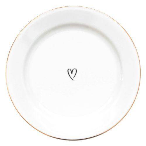 Bella Rose / Dezertný tanierik Srdiečko 19 cm