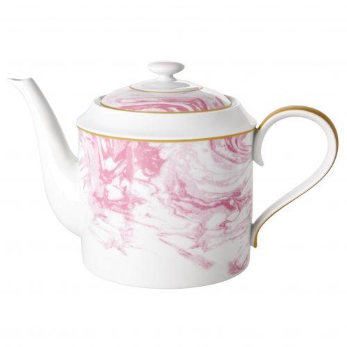 rice / Porcelánová kanvica Marble Print Pink 1280 ml
