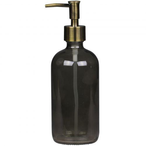 Chic Antique / Sklenený dávkovač na mydlo Coal 480 ml