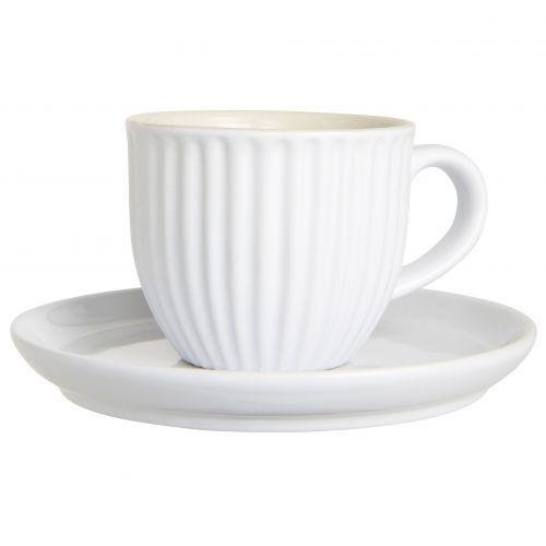 IB LAURSEN / Šálka s tanierikom Mynte Pure White 135 ml
