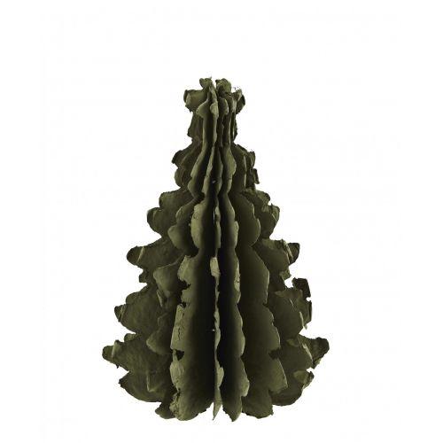 MADAM STOLTZ / Vianočná dekorácia Paper Tree Green