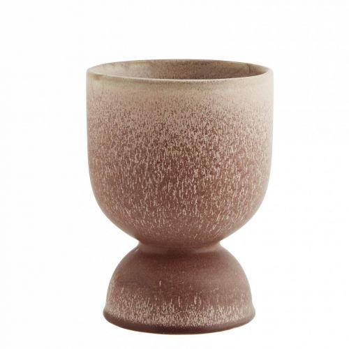 MADAM STOLTZ / Keramický kvetináč Brown Powder Round