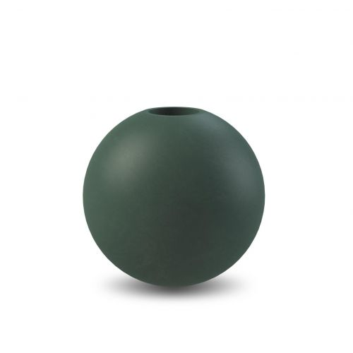 COOEE Design / Dřevěný svícen Ball Dark Green 8cm
