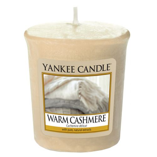 Yankee Candle / Votívna sviečka Yankee Candle - Warm Cashmere