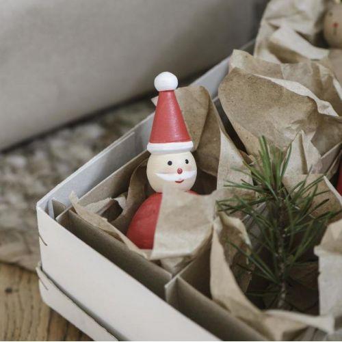 IB LAURSEN / Drevený Santa Claus Red 9 cm