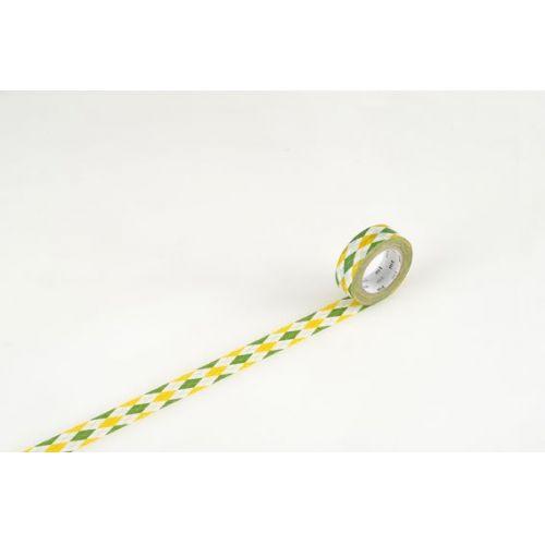 MT / Designová samolepící páska Argyle green