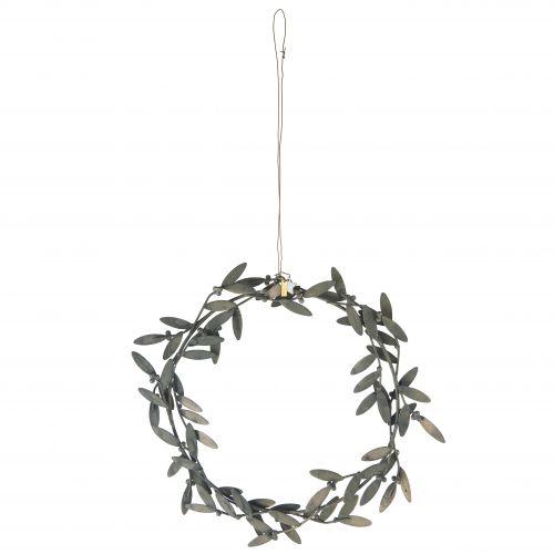 IB LAURSEN / Závesný kovový veniec Mistletoe leaves