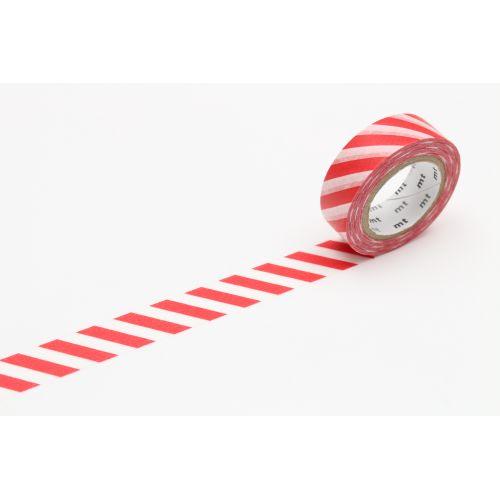 mt / Japonská papierová páska Red Stripe