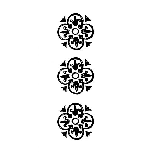 IB LAURSEN / Papírové ubrousky Black pattern