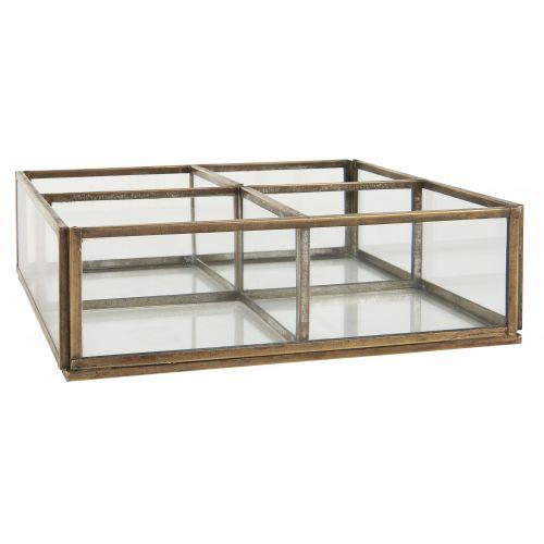 IB LAURSEN / Sklenený box Clear & Gold 4 Rooms