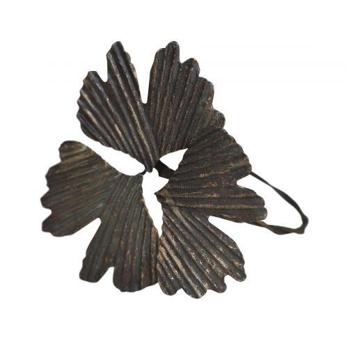 Chic Antique / Krúžok na servítky Antique Brass Leaves