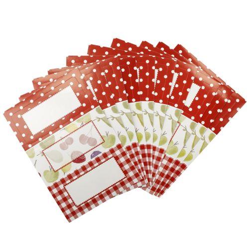 Kitchen Craft / Sada lepiacich štítkov na zaváraniny Red - 30 ks