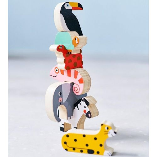 PETIT MONKEY / Drevené hračky Jungle Stacker