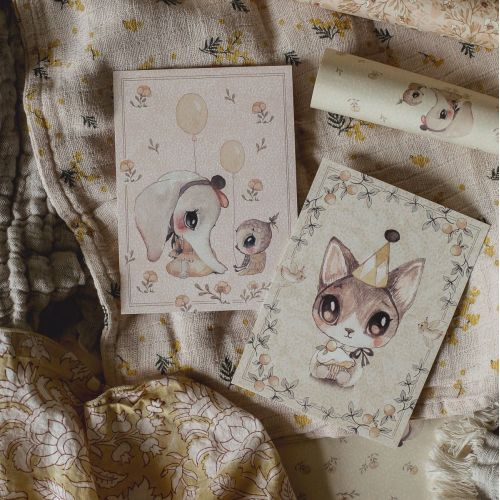 MRS. MIGHETTO / Detské blahoželanie Ellie & Meow - Set 2 ks