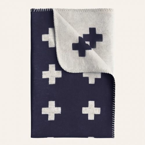 Pia Wallén / Deka Cross Blanket Navy 150x250