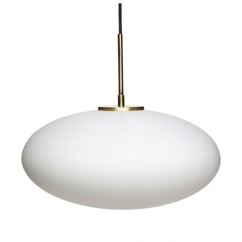Hübsch / Závesný luster White & Golg Lamp