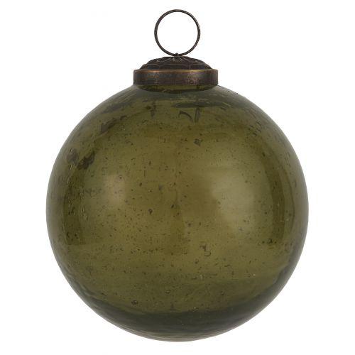 IB LAURSEN / Vianočná ozdoba Pebbled Glass Olive 9,5cm