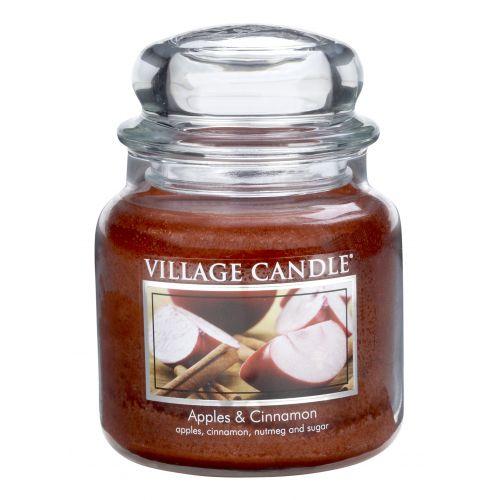 Village Candle / Svíčka ve skle Apple Cinnamon - střední