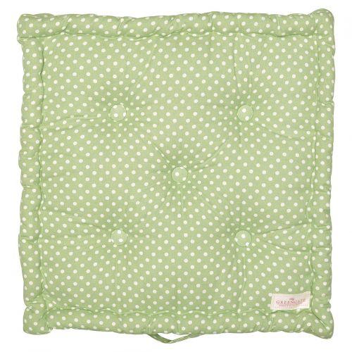 GREEN GATE / Bavlnený sedák Spot Pale Green